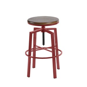 Creekmont Adjustable Height Swivel Bar Stool by Beachcrest Home