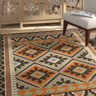 Henbury Orange/Green/Brown Indoor/Outdoor Area Rug