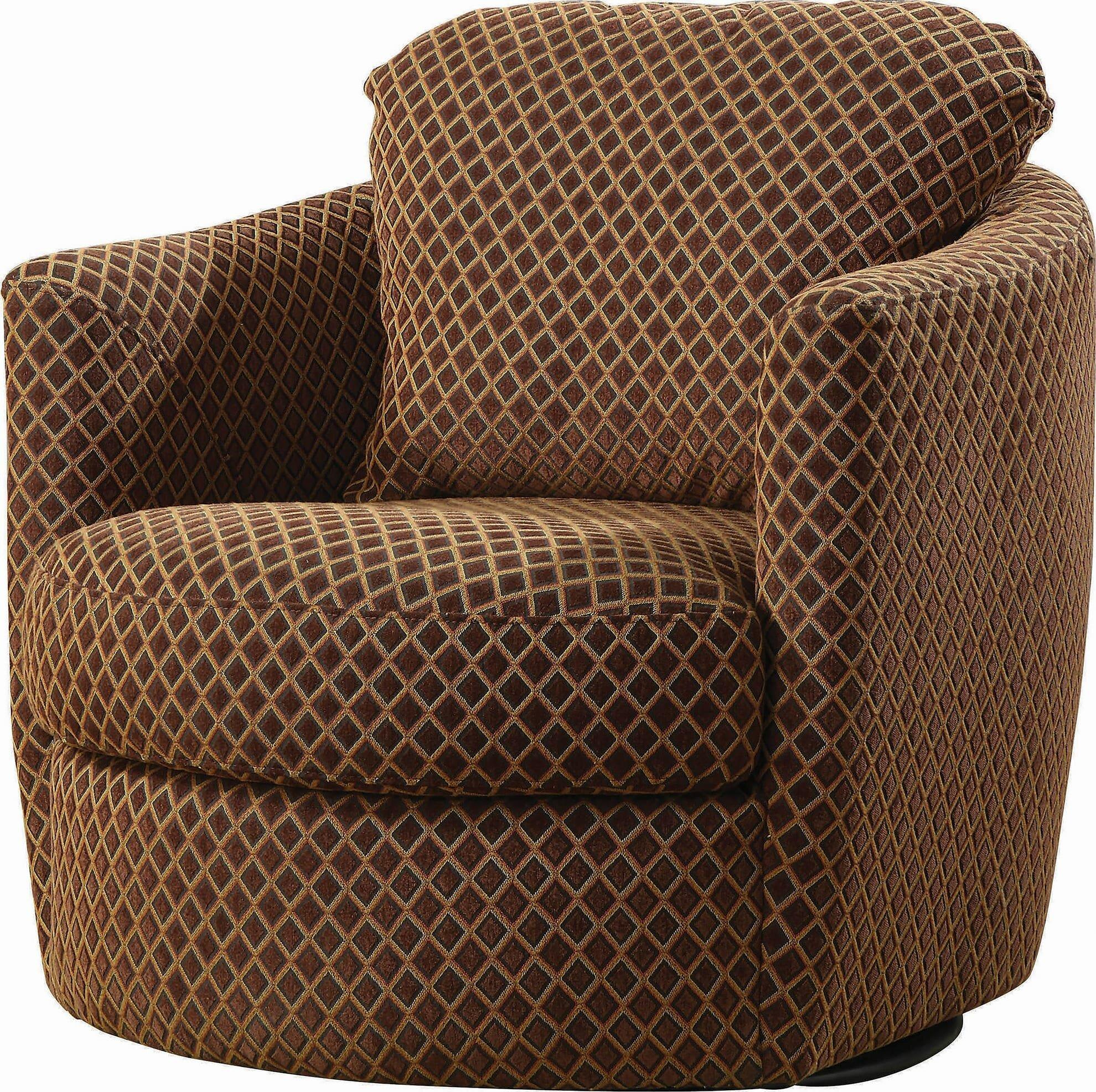 Khan Casual Swivel Barrel Accent Chair