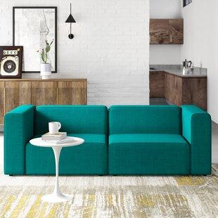 Modern Contemporary Azure Modular Sofa Allmodern
