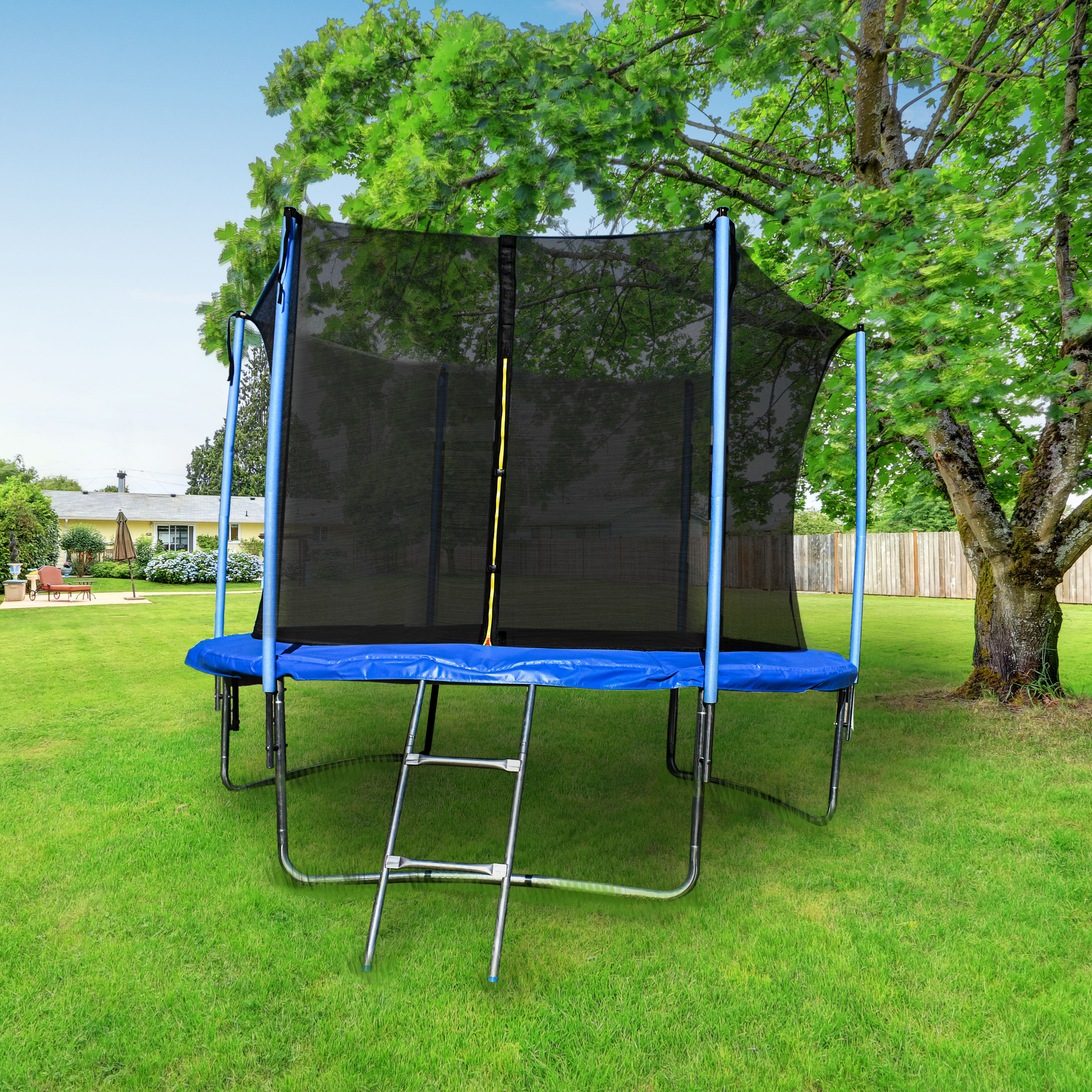 Clips Included Net /& Mat ONLY Trampoline Replacement Jumping Band Mat With Attached Safety Net For 55 Round Frame
