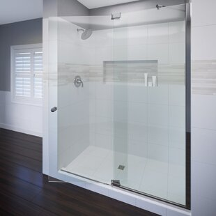 Cantour 54 x 76 Pivot Door and Panel Shower Door ByBasco