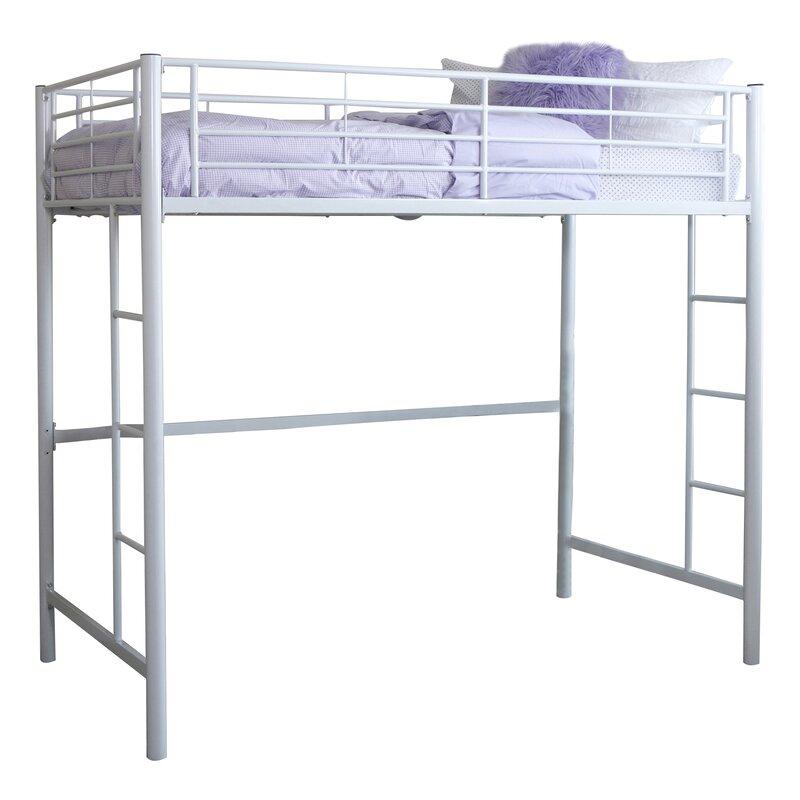 Superbe Belfort Charmaine Metal Twin Loft Bed