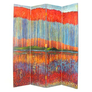 Darby Home Co Danial Fall in the Forest 4 Panel Room Divider