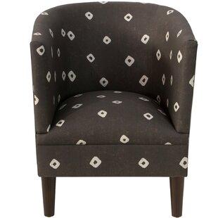 Echevarria Sepia Linen/Cotton Barrel Chair by Ivy Bronx