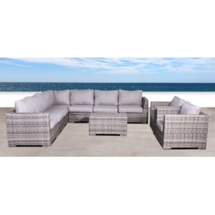 Brayden Studio Pierson Double Club 4 Piece Sectional Set with Cushions