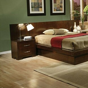 Orren Ellis Seth Back Panel Wooden 2 Drawer Nightstand