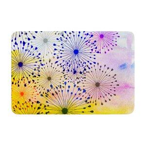 Sreetama Ray Bursting Blossoms Memory Foam Bath Rug