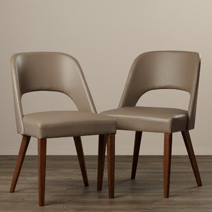 Josiah Genuine Leather Upholstered Dining Chair (Set of 2) by Corrigan Studio