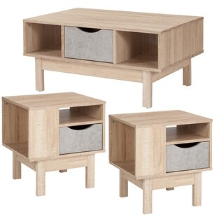 Forest 3 Piece Coffee Table Set
