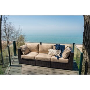 Rosecliff Heights Darden Patio Sofa with Cushions