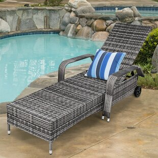 Cathie Adjustable Wheels Reclining Chaise Lounge by Wrought Studio