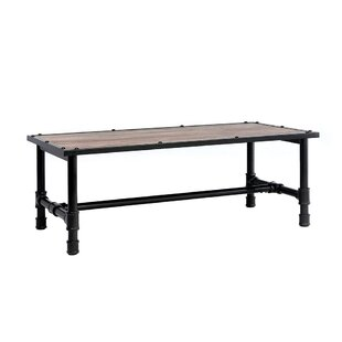 Capps Metal Frame Wood Coffee Table