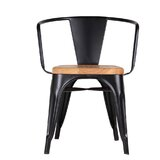 Tempo Slat Back Side Chair in Black by sohoConcept