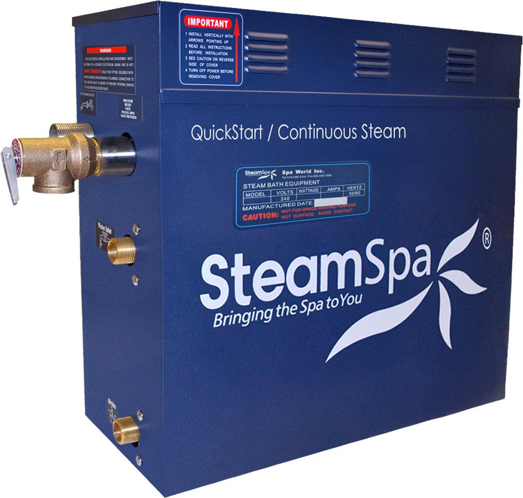 Steam Spa Royal 6 Kw Quickstart Steam Bath Generator Package With Built In Auto Drain Wayfair