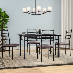 Rose 5 Piece Dining Set Zipcode Design