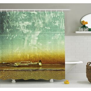 Music Worn Trumpet Jazz Shower Curtain Set