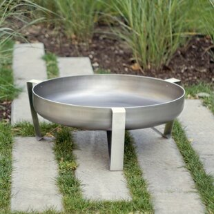 Quarry Stainless Steel Charcoal/Wood Burning Fire Pit By Sol 72 Outdoor