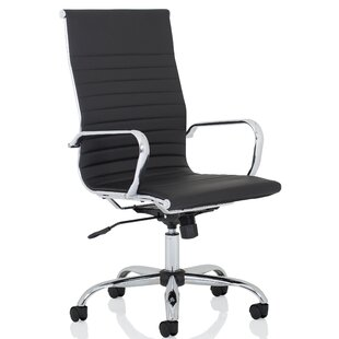 Edgerton Bonded Leather Executive Chair By Wade Logan