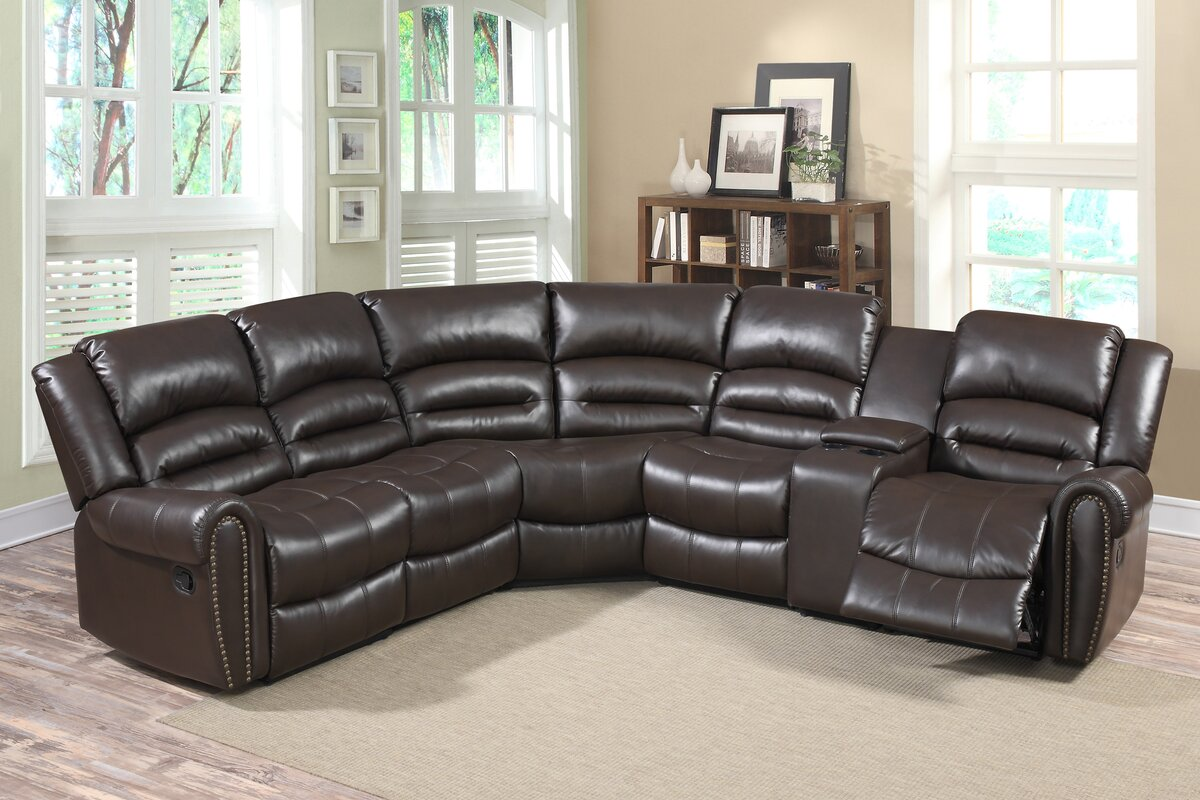 Living In Style Bingham Reclining Sectional & Reviews