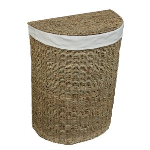 Semi-Circle Wicker Laundry Bin By August Grove