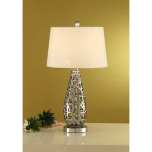 Shorey Ceramic Drop Shape Base Metal 28 Table Lamp (Set of 2)