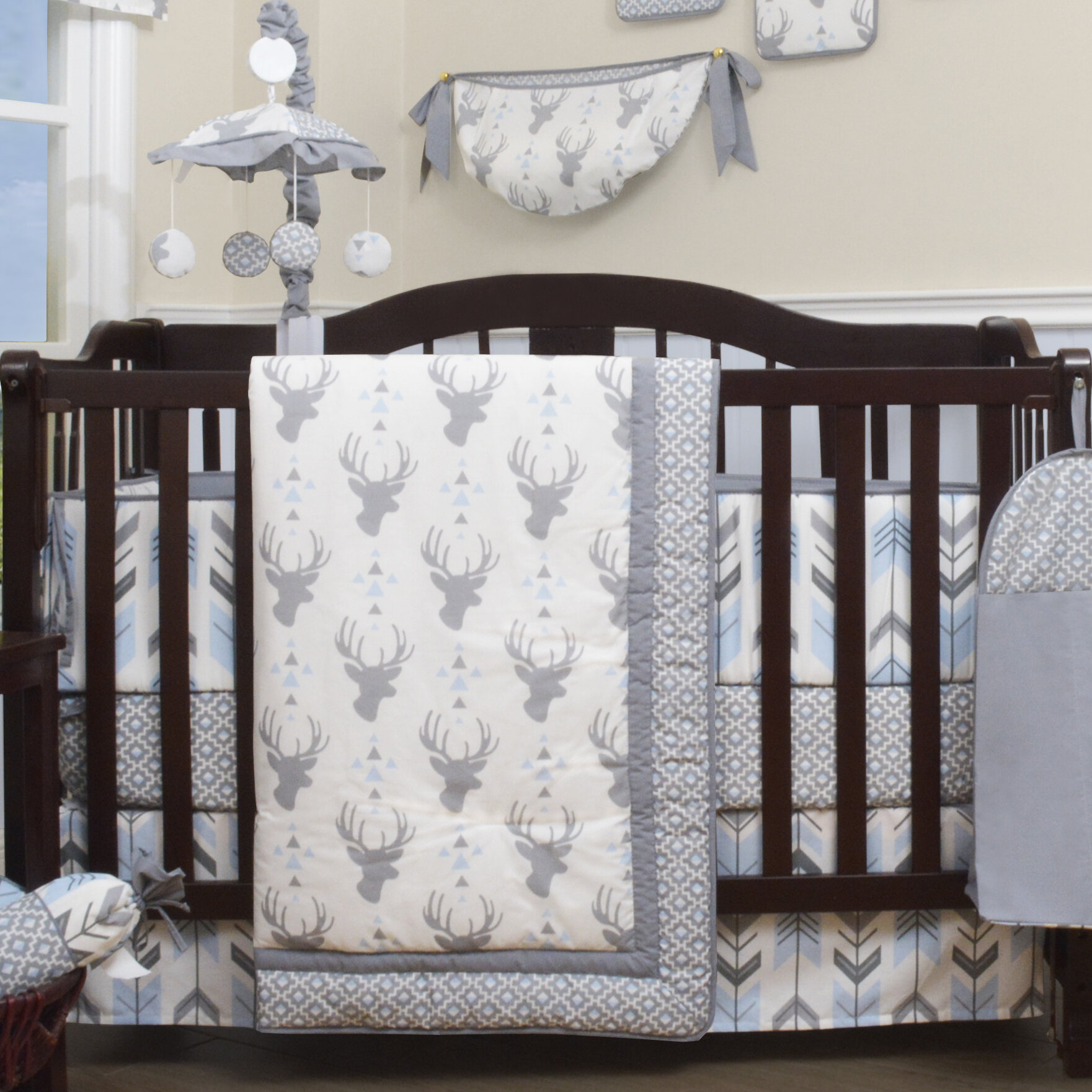 Viv Rae Doug Deer Nursery Arrow 12 Piece Crib Bedding Set