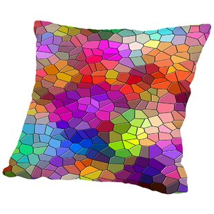 Colorful Abstract Mosaic Style Throw Pillow