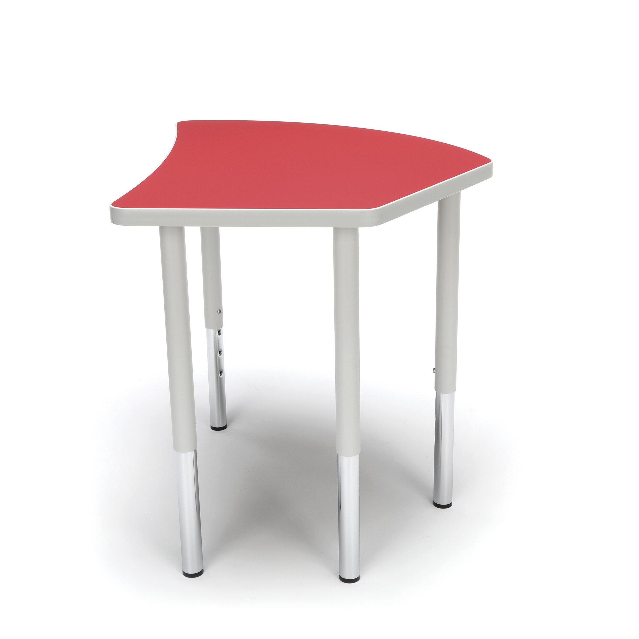 Ofm Adapt Series Crescent Adjustable 30 75 X 25 75 Novelty Activity Table Wayfair