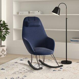 Adeline Fabric Rocking Chair By Hykkon
