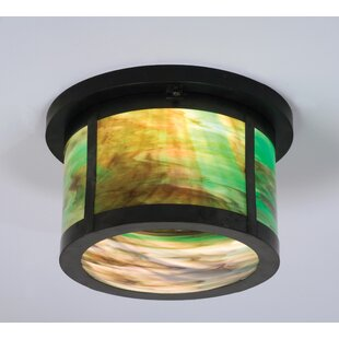 Meyda Tiffany Craftsman 2-Light Flush Mount