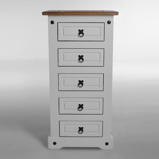 Swink Narrow 5 Drawer Lingerie Chest