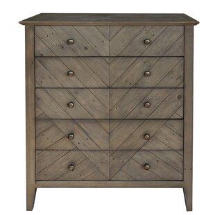 Gracie Oaks Edvin Reclaimed Pine 5 Drawer Dresser