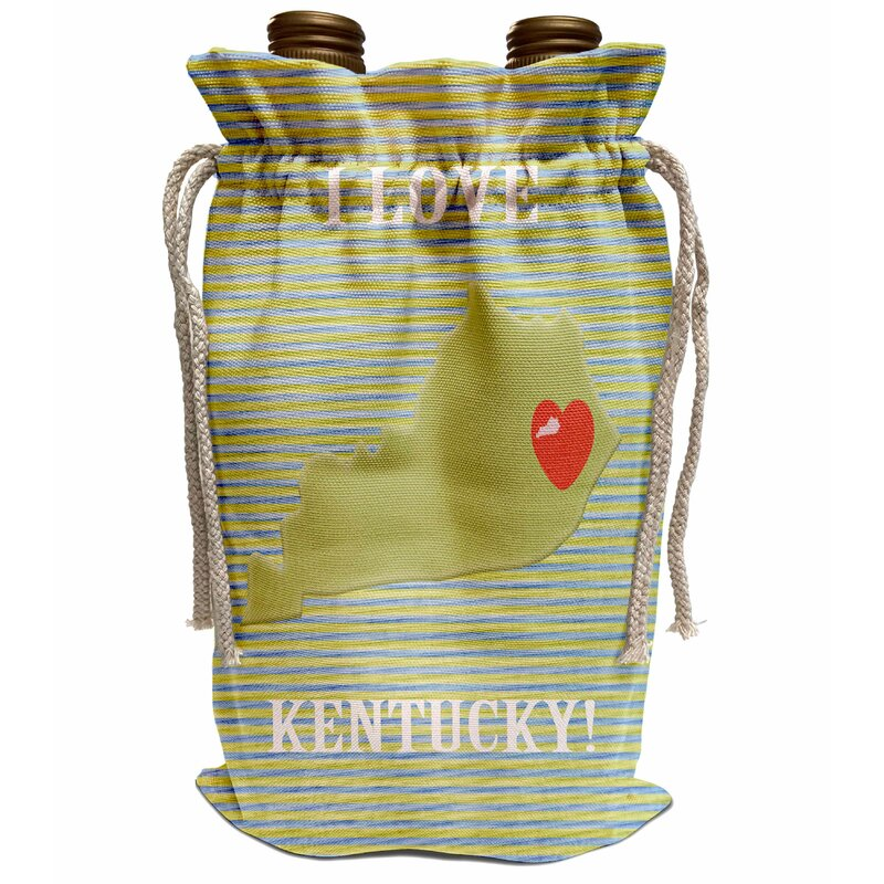 Love Wine shopping bag 6 bottle wine carrier removable dividers red heart