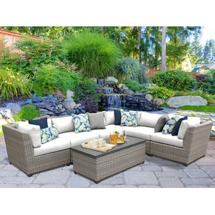 Meeks 7 Piece Sectional Seating Group with Cushions