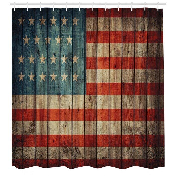 Usa Shower Curtain Set Hooks