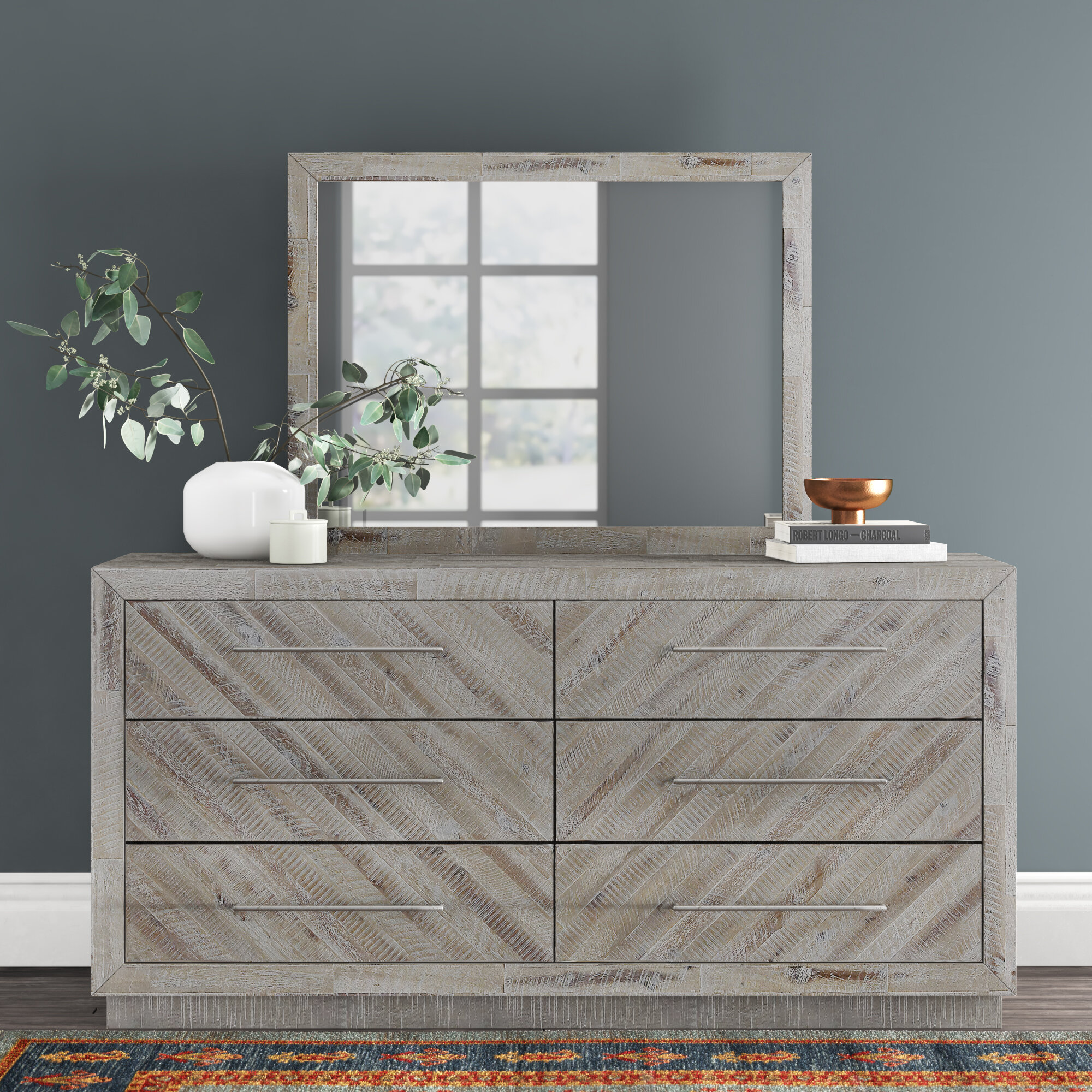 6 Drawer Double Dresser With Mirror Reviews Joss Main
