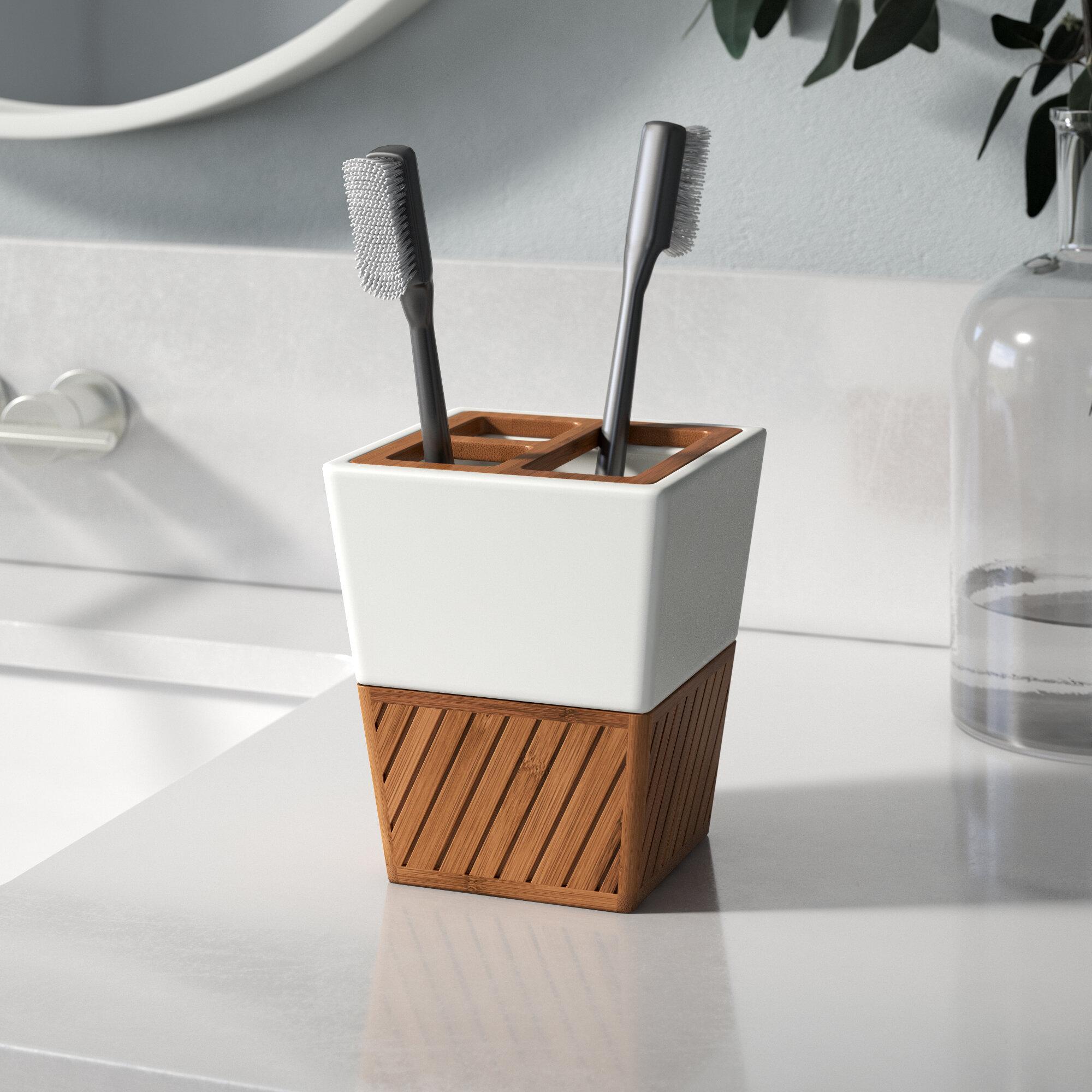 Brown Plastic Countertop Bath Accessories You Ll Love In 2021 Wayfair