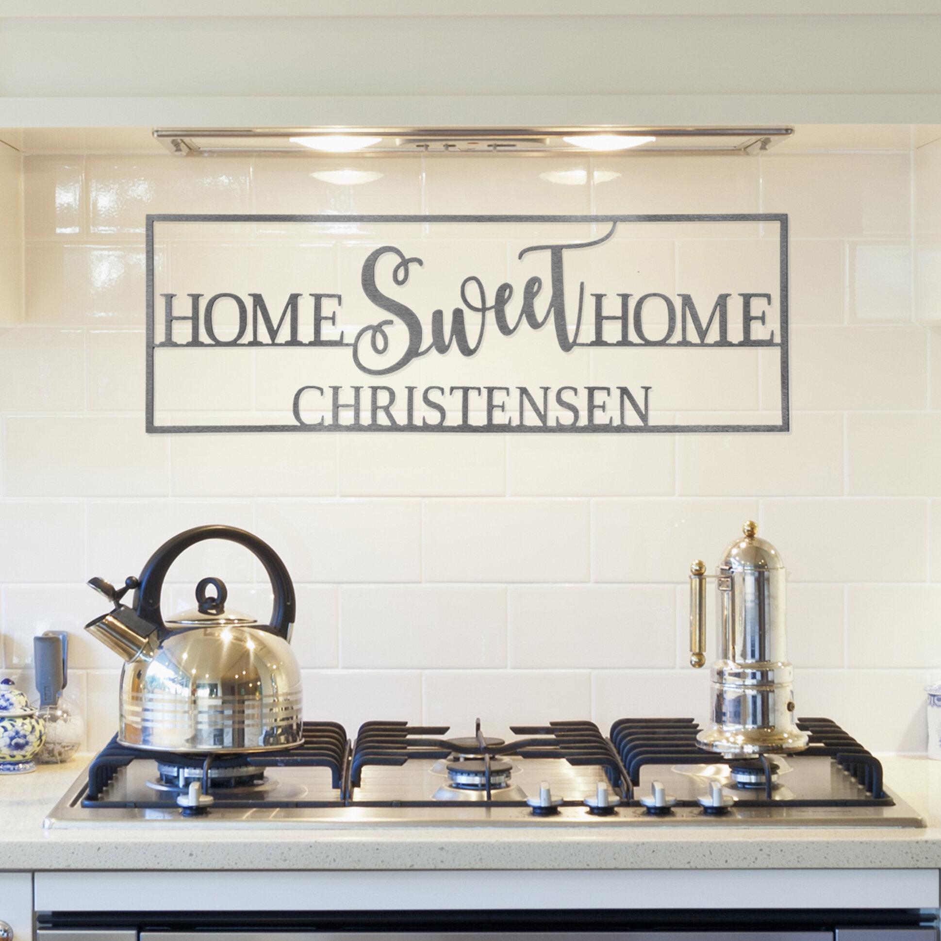 Winston Porter Home Sweet Custom Wall Decor Reviews Wayfair