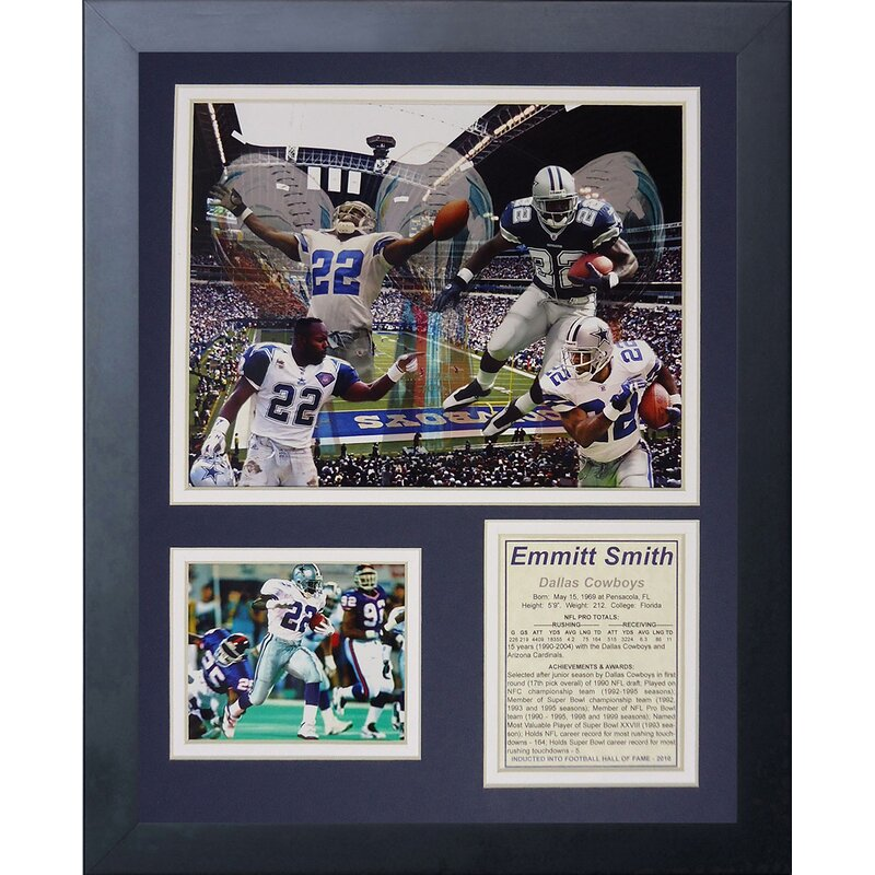 e055c25b567 Legends Never Die Dallas Cowboys Emmitt Smith Framed Memorabili ...