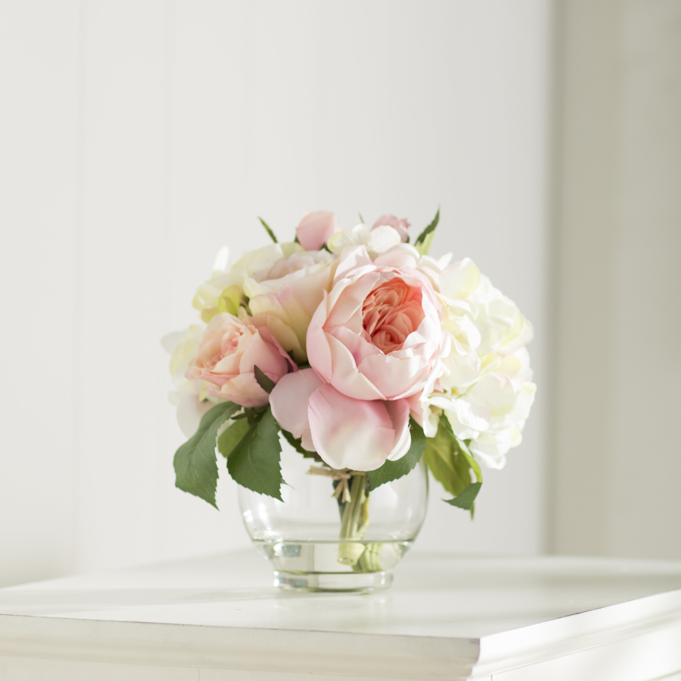 Ophelia Co Roses And Hydrangea Bouquet Reviews Wayfair