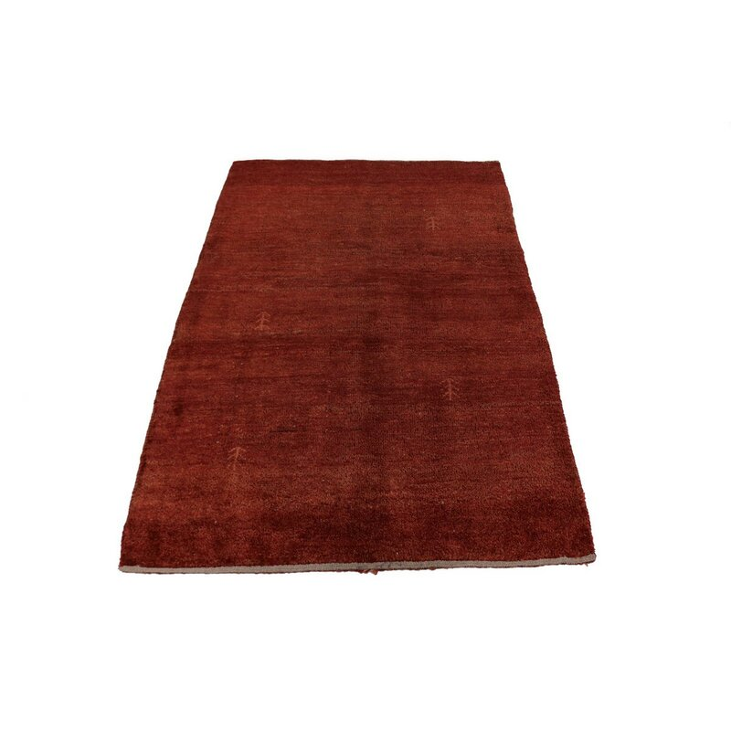 Isabelline Rodey Hand Knotted Wool Red Rug Wayfair