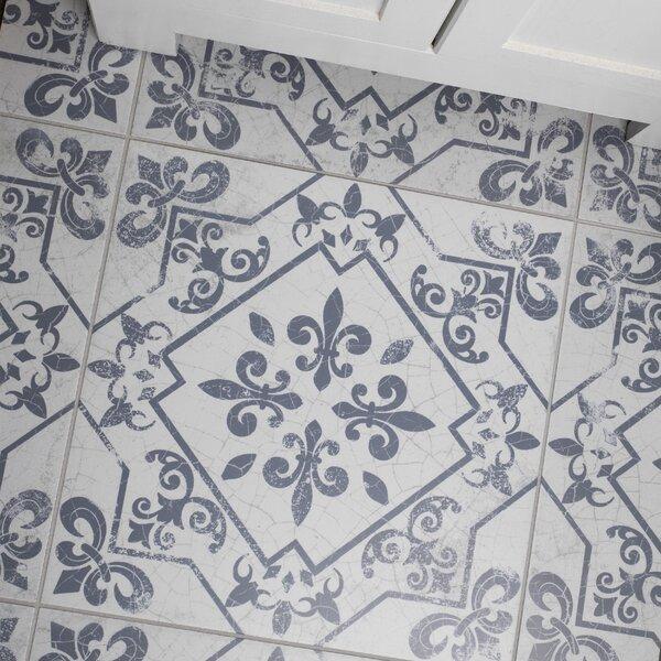 Fleur De Lis Floor Tile Wayfair