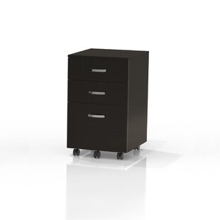 Mayline Group Soho 3-Drawer Mobile Vertical Filing Cabinet