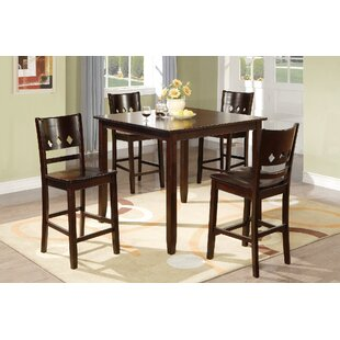 Fessler 5 Piece Solid Wood Dining Set by Winston Porter