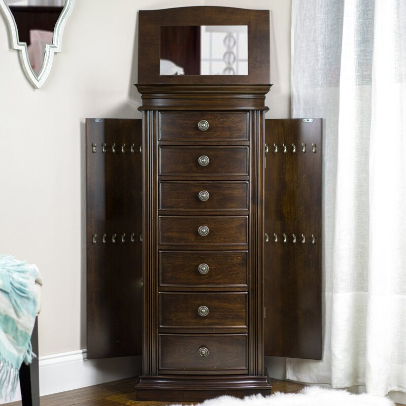 Maurizio Jewelry Armoire with Mirror Reviews Joss Main