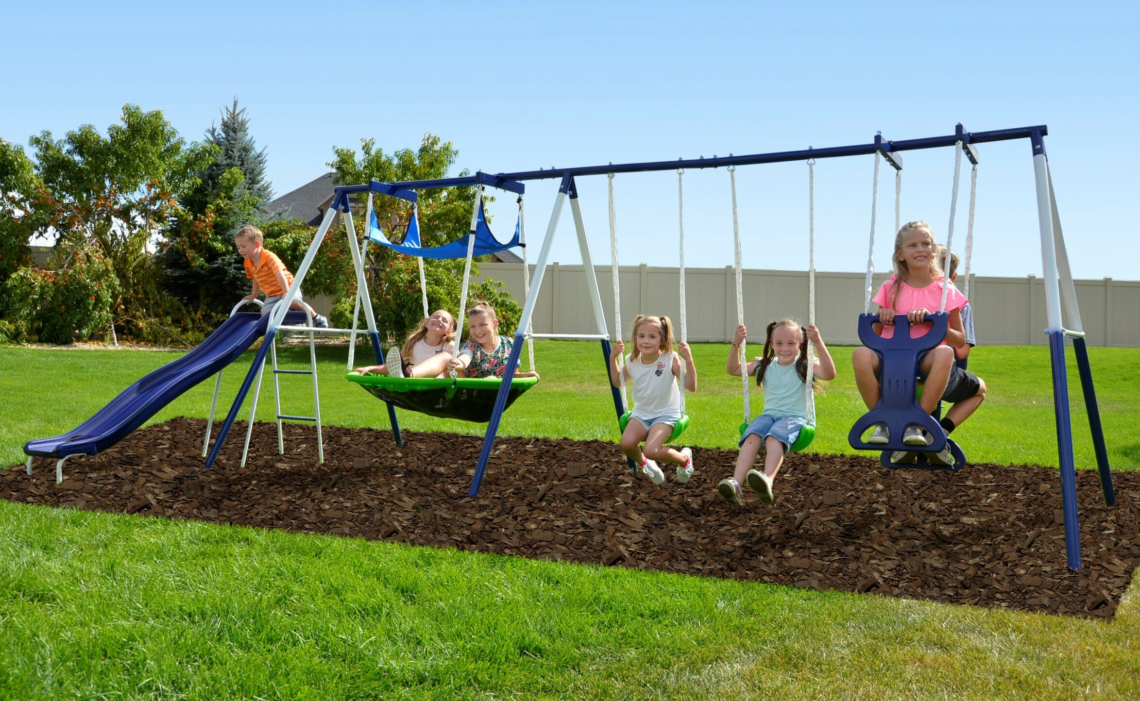 Natus Inc Rosemead Swing Set Reviews Wayfair