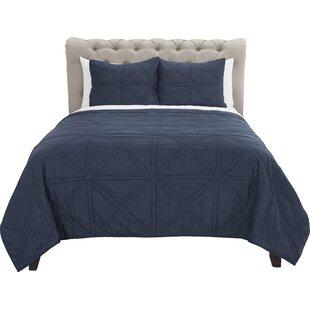 Laymon 100% Cotton Reversible Quilt Set