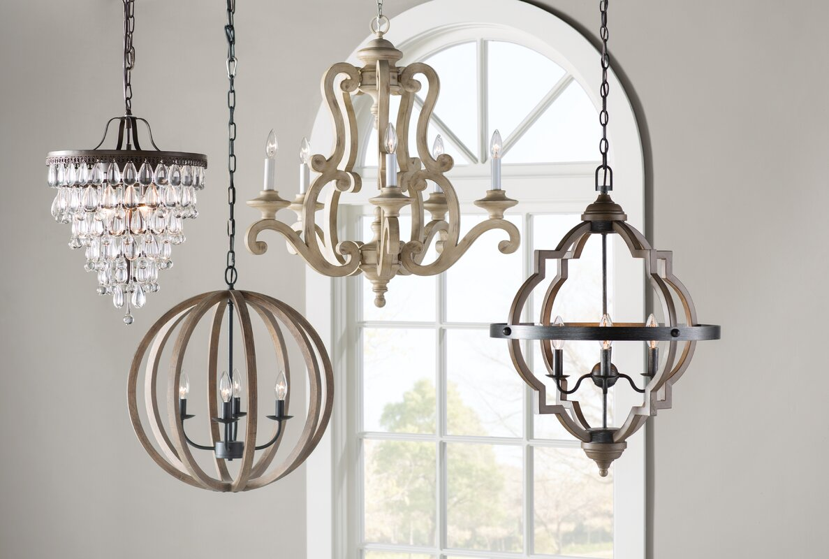 Bennington candle style chandelier reviews birch lane bennington candle style chandelier arubaitofo Gallery