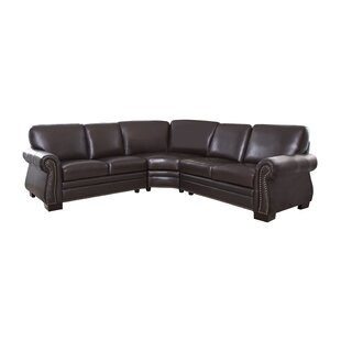 Barnabas Leather Sectional by Darby Home Co Best Design